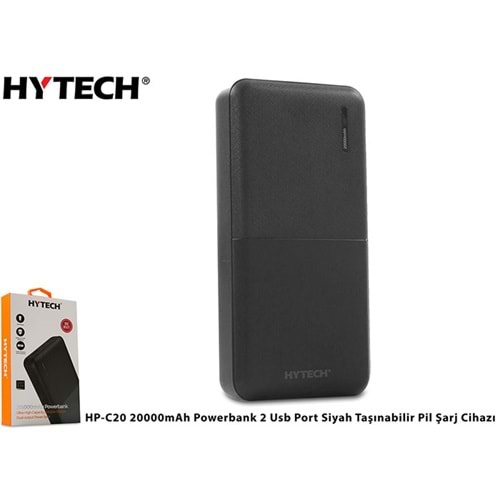 HYTECH | HP-C20 20000mAh POWERBANK 2 USB PORT SİYAH